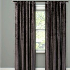 Velvet blackout curtain 1 panel